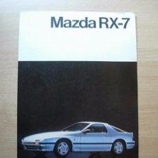 Coches y Motocicletas: MAZDA RX-7 (RX7) - CATÁLOGO COCHE - ESPAÑOL. Lote 69751929