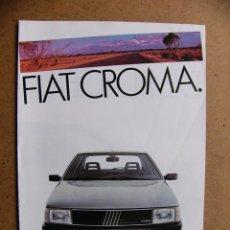 Coches y Motocicletas: CATALOGO TRIPTICO FIAT CROMA. Lote 69806017