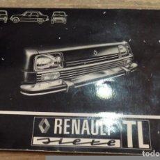 Coches y Motocicletas: RENAULT 7 SIETE TL - MANUAL USUARIO ORIGINAL - 1977 - ESPAÑOL. Lote 70164905