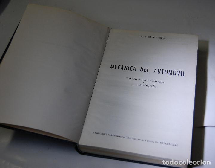 Coches y Motocicletas: LIBRO MECANICA DEL AUTOMOVIL MARCOMBO W H CROUSE - Foto 6 - 70254877