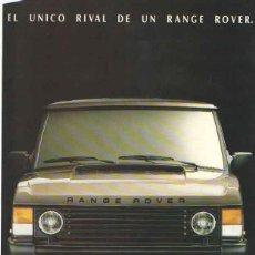 Coches y Motocicletas: RANGE ROVER: ANUNCIO PUBLICIDAD 1987. Lote 70590809