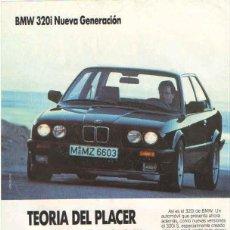 Coches y Motocicletas: BMW 320I: ANUNCIO PUBLICIDAD 1988. Lote 70590825