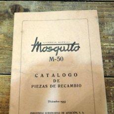 Coches y Motocicletas: MOSQUITO M-50, CATALOGO DE PIEZAS DE RECAMBIO,1955,23 PAGINAS. Lote 71024949