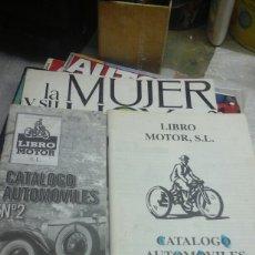 Coches y Motocicletas: CATALOGOS DE LIBRO MOTOR. Lote 71091162