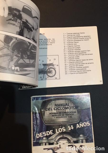 Coches y Motocicletas: LOTE MANUAL DE INSTRUCCIONES DEL CICLOMOTOR AUTOMATICO DERBI VARIANT SPORT START - Foto 2 - 72058275