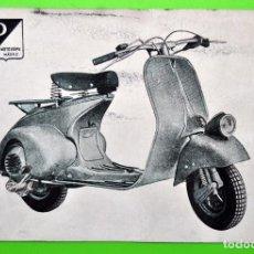 Coches y Motocicletas: TARGETA POSTAL DE MOTOVESPA MADRID - VESPA - AÑOS 50. Lote 72174727