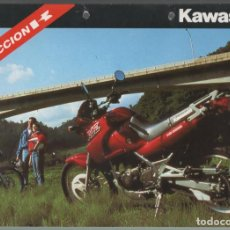 Coches y Motocicletas: (TC-12) CATALOGO DIPTICO MOTO KAWASAKI ACCION K. Lote 72317155