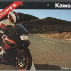 Coches y Motocicletas: (TC-12) CATALOGO DIPTICO MOTO KAWASAKI ACCION K. Lote 72317243