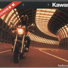 Coches y Motocicletas: (TC-12) CATALOGO DIPTICO MOTO KAWASAKI ACCION K. Lote 72317287
