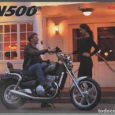 Coches y Motocicletas: (TC-12) CATALOGO DIPTICO MOTO KAWASAKI EN500. Lote 72317359