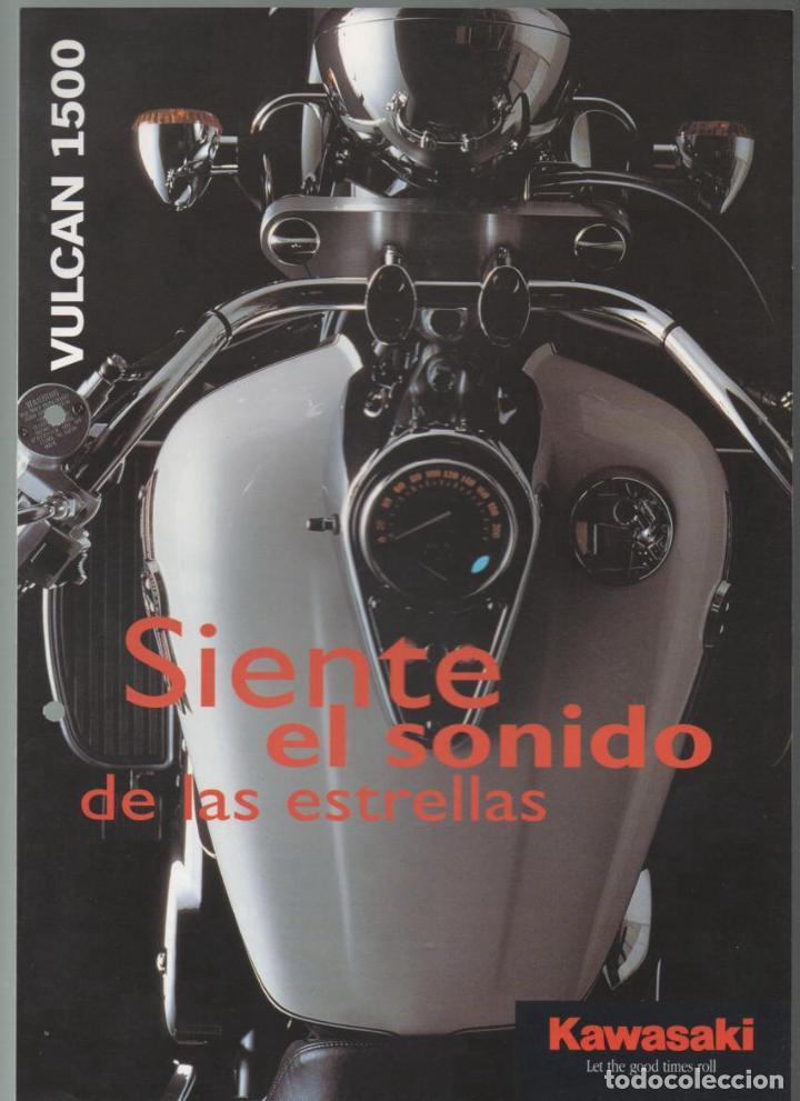 (TC-12) CATALOGO DIPTICO MOTO KAWASAKI VULCAN 1500 (Coches y Motocicletas Antiguas y Clásicas - Catálogos, Publicidad y Libros de mecánica)