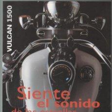 Coches y Motocicletas: (TC-12) CATALOGO DIPTICO MOTO KAWASAKI VULCAN 1500. Lote 72317575