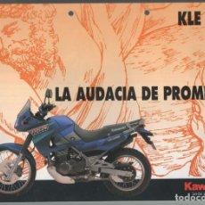 Coches y Motocicletas: (TC-12) CATALOGO DIPTICO MOTO KAWASAKI KLE 500. Lote 72317735