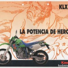 Coches y Motocicletas: (TC-12) CATALOGO DIPTICO MOTO KAWASAKI KLX 650. Lote 72317791