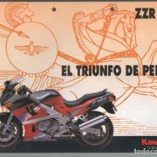 Coches y Motocicletas: (TC-12) CATALOGO DIPTICO MOTO KAWASAKI ZZR 600. Lote 72317891