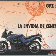 Coches y Motocicletas: (TC-12) CATALOGO DIPTICO MOTO KAWASAKI GPZ 500S. Lote 72317951