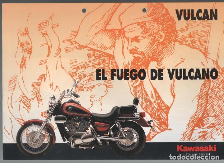 (TC-12) CATALOGO DIPTICO MOTO KAWASAKI VULCAN (Coches y Motocicletas Antiguas y Clásicas - Catálogos, Publicidad y Libros de mecánica)