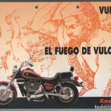 Coches y Motocicletas: (TC-12) CATALOGO DIPTICO MOTO KAWASAKI VULCAN. Lote 72318091