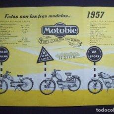 Coches y Motocicletas: FOLLETO MOTOS MOTOBIC . AÑO 1957 . FABRICADA EN EIBAR. Lote 146155452
