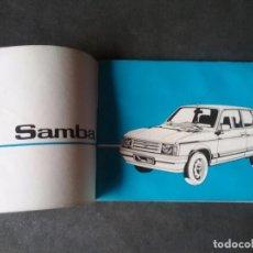Coches y Motocicletas: TALBOT SAMBA , MANUAL ORIGINAL.. Lote 73540111