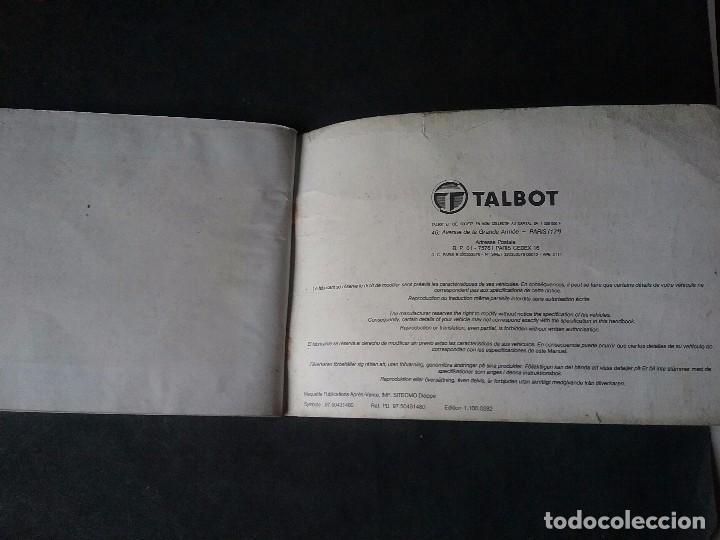Coches y Motocicletas: Talbot Samba , manual original. - Foto 7 - 73540111