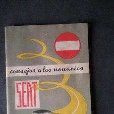 Coches y Motocicletas: CATÁLOGO SEAT ORIGINAL.. Lote 73543347