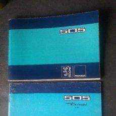 Coches y Motocicletas: PEUGEOT 505 GASOLINA Y DIESEL , MANUALES ORIGINALES.. Lote 73545795