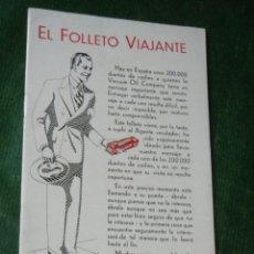 Coches y Motocicletas: VACUUM OIL COMPANY - MOBILGREASE - EL FOLLETO VIAJANTE - HACIA 1950. Lote 73554159