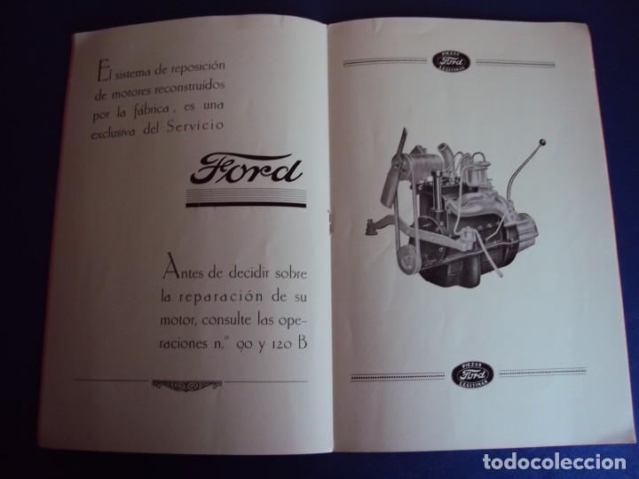 Coches y Motocicletas: (CAT-170125)TARIFA OFICIAL DE REPARACIONES FORD MODELOS 8 HP y 10,AÑOS 20,CASTELLANO,11 PAGINAS - Foto 6 - 73661119