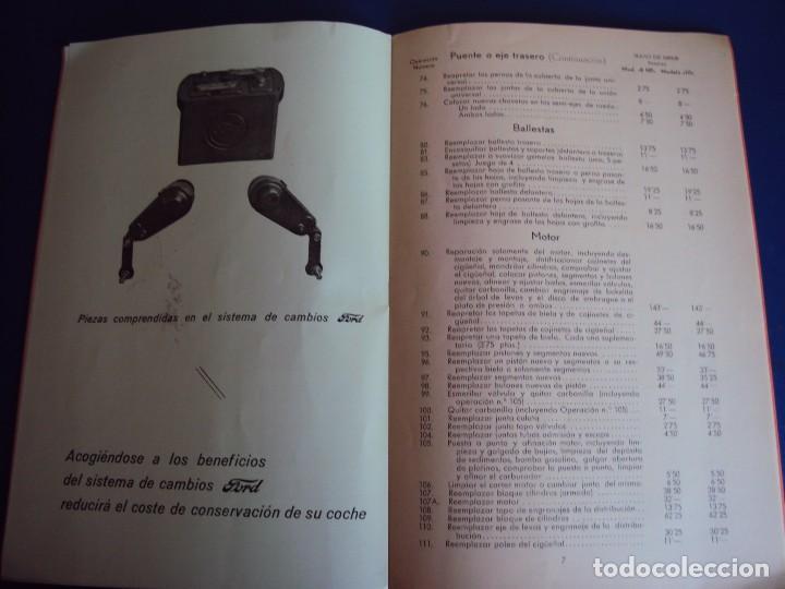 Coches y Motocicletas: (CAT-170125)TARIFA OFICIAL DE REPARACIONES FORD MODELOS 8 HP y 10,AÑOS 20,CASTELLANO,11 PAGINAS - Foto 7 - 73661119