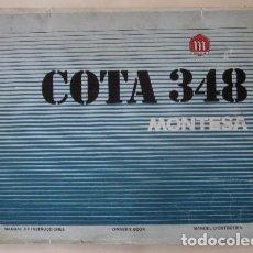 Coches y Motocicletas: MONTESA COTA 348 - MANUAL DE INSTRUCCIONES. Lote 73758631