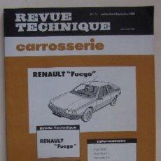 Coches y Motocicletas: REVISTA TECNICA - RENAULT FUEGO - JULIO-AGOSTO-SEPTIEMBRE 1980. Lote 73764903