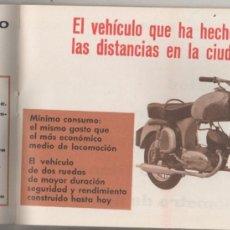 Coches y Motocicletas: PRECIOSO CATÁLOGO CON PUBLICIDAD DE MOTOS ISO, MOTO CARRO, ETC MUCHAS IMÁGENES. AÑOS 60. Lote 73916315