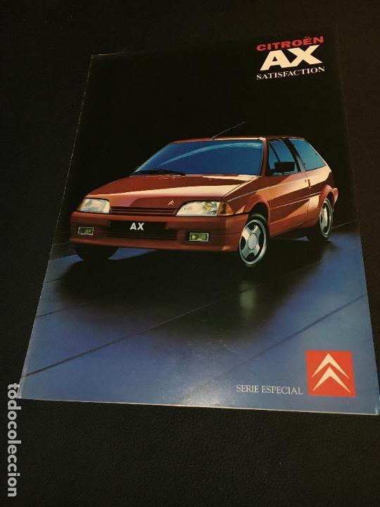 FOLLETO CATALOGO PUBLICIDAD ORIGINAL CITROEN AX SATISFACTION 1991 CITROËN (Coches y Motocicletas Antiguas y Clásicas - Catálogos, Publicidad y Libros de mecánica)