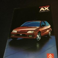 Coches y Motocicletas: FOLLETO CATALOGO PUBLICIDAD ORIGINAL CITROEN AX SATISFACTION 1991 CITROËN. Lote 74140775