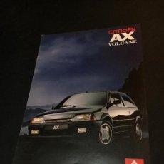 Coches y Motocicletas: FOLLETO CATALOGO PUBLICIDAD ORIGINAL CITROEN AX VOLCANE 1990 CITROËN. Lote 74140879