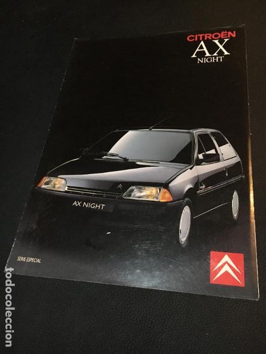FOLLETO CATALOGO PUBLICIDAD ORIGINAL CITROEN AX NIGHT 1990 CITROËN (Coches y Motocicletas Antiguas y Clásicas - Catálogos, Publicidad y Libros de mecánica)