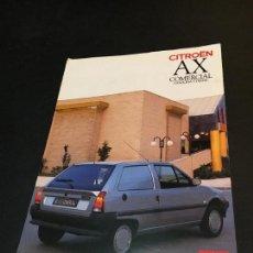 Coches y Motocicletas: FOLLETO CATALOGO PUBLICIDAD ORIGINAL CITROEN AX COMERCIAL GASOLINA Y DIESEL 1990 CITROËN. Lote 149667081