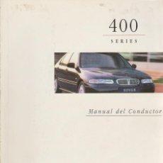 Coches y Motocicletas: MANUAL DEL USUARIO ROVER 400 1997. Lote 74258187