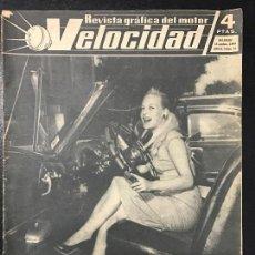Coches y Motocicletas: REVISTA VELOCIDAD NUM 14 AÑO 1960. Lote 74614579