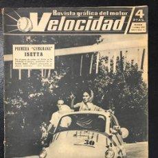 Coches y Motocicletas: REVISTA VELOCIDAD NUM 15 1960. Lote 74614815
