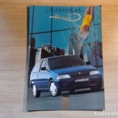 Coches y Motocicletas: CITROËN AX TONIC - CATÁLOGO COCHE (1996) - ESPAÑOL. Lote 75422835