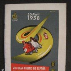 Coches y Motocicletas: CARRERAS MOTOCICLETAS -VIII GRAN PREMIO DE ESPAÑA-MONTJUICH BARCELONA-AÑO 1958-VER FOTOS - (V-8917). Lote 75530967