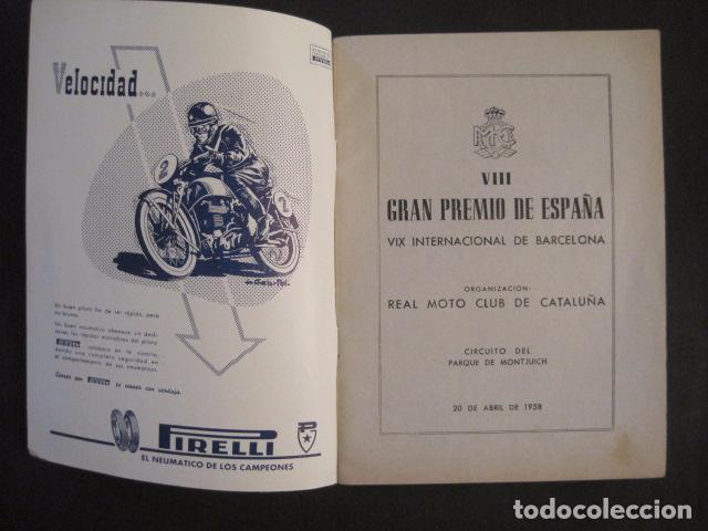 Coches y Motocicletas: CARRERAS MOTOCICLETAS -VIII GRAN PREMIO DE ESPAÑA-MONTJUICH BARCELONA-AÑO 1958-VER FOTOS - (V-8917) - Foto 2 - 75530967