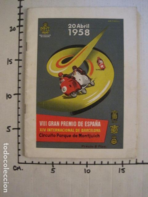 Coches y Motocicletas: CARRERAS MOTOCICLETAS -VIII GRAN PREMIO DE ESPAÑA-MONTJUICH BARCELONA-AÑO 1958-VER FOTOS - (V-8917) - Foto 19 - 75530967