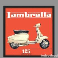 Coches y Motocicletas: AZULEJO 20X20 DE LAMBRETTA 125. Lote 75678343