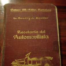 Coches y Motocicletas: RECETARIO DEL AUTOMOVILISTA L. BRAUDY. Lote 75722887