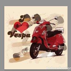 Coches y Motocicletas: AZULEJO 20X20 VESPA. Lote 75800059