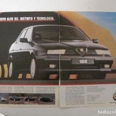 Coches y Motocicletas: ALFA ROMEO 155: ANUNCIO PUBLICIDAD 1992. Lote 75830699