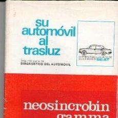 Coches y Motocicletas: SU AUTOMÓVIL AL TRASLUZ, CONTIENE TODOS LOS MODELOS DE AUTOMÓVILES SEAT. Lote 76139327